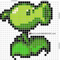 HamaBeads Plants vs Zombies Melty Bead Patterns, Hama Beads Patterns, Beading Patterns, 3d Perler Bead, Perler Bead Art, Plants Vs Zombies, Plantas Versus Zombies, Pixel Beads, Pixel Drawing