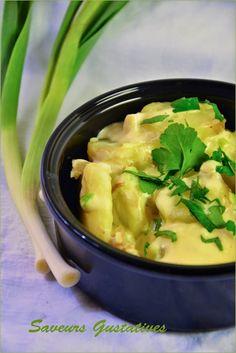 Cassolette de pomme de terre à la crème de chèvre et d'aillet