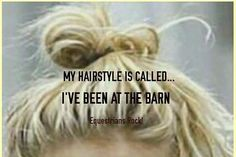My hairstyle is called I've been at the barn