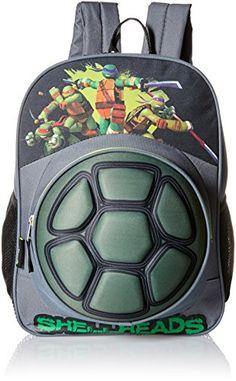 Teenage Mutant Ninja Turtles Big Boys Nickelodeon Eva Turtle Shell Front  Pocket 16 Inch Backpack 156b2af3b95ef