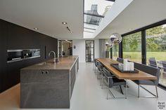 Modern Kitchen Design, Modern House Design, Interior Design Kitchen, Crowded House, Open Plan Kitchen Living Room, Open Concept Kitchen, Home Office Design, Luxe Villa, Plywood Furniture