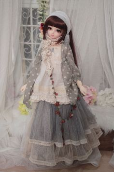 Vintage Stitching Forest Girl Dress for 1/3 1/4 BJD SD MSD Clothes