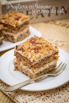 Romanian Desserts, Romanian Food, Romanian Recipes, Sweets Recipes, Pie Recipes, Baked Goods, Food To Make, Sweet Treats, Food Porn