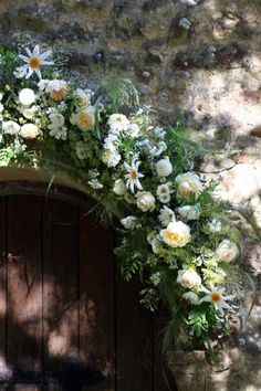 Flower garland for church entrance