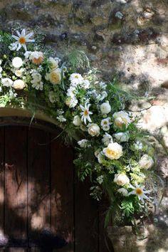 Flower garland for church entrance