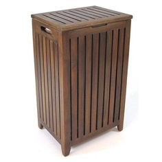 redmon genuine teak apartment size hamper with bag walmart com