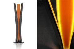 "#Design Lamp ""Twiddle"" #SolidSurface #Avonite Amber Glass Design by Marek Jurčiak"