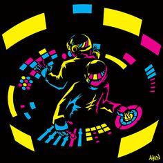 Daft Punk CMYK on Behance