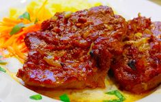 In Bacon eingewickelte Hähnchenbrustfilets Pork Meat, Cooking Recipes, Healthy Recipes, Meatloaf, Tandoori Chicken, Steak, Bacon, Ketchup, Food And Drink