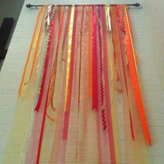Pentecost banners made with ribbons