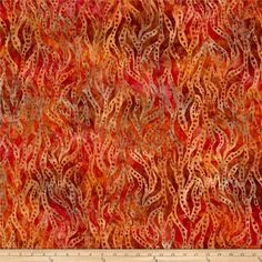 Kaufman Artisan Batiks Bakari Wavy Stripe Russet from @fabricdotcom From Robert Kaufman, this batik fabric collection features hand painted flair and is perfect for quilting, apparel, and home decor accents. Colors include pink, coral and shades of brown and orange.