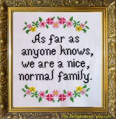 Nice, Normal Family - cross stitch pattern pdf instant download by TheTwilightSewn on Etsy