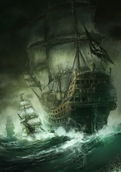 """Bringing Pirate Fantasy Romance To My Readers! Releasing Summer or Fall Fictional world ✔️ Pirates ✔️ Romance ✔️ Suspense ✔️ The gorgeous Captain """"Dragon"""" Lincoln ✔️ Fantasy kingdom ✔️ Mermaids ✔️ Fairies ✔️ Elves ✔️ Kings and Queens ✔️ Pirate Art, Pirate Ships, Pirate Crafts, Tattoo Barco, Bateau Pirate, Old Sailing Ships, Sea Of Thieves, Ship Of The Line, Ship Paintings"""