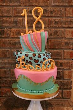 Sweet 18th Birthday Cake and Cupcakes Retirement Pinterest