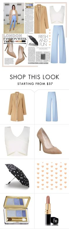 """pack and go: london. <3"" by tatjana ❤ liked on Polyvore featuring Miss Selfridge, Christopher Kane, BCBGMAXAZRIA, Office, Kate Spade, Estée Lauder, Chanel, women's clothing, women and female"
