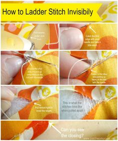 Ladder Stitch for Closing Dolls and Plushies