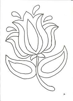 How to create your own fusible applique pattern from a drawing Punch Needle Patterns, Hand Embroidery Patterns, Applique Patterns, Craft Patterns, Beaded Embroidery, Embroidery Stitches, Embroidery Designs, Jacobean Embroidery, Flower Embroidery