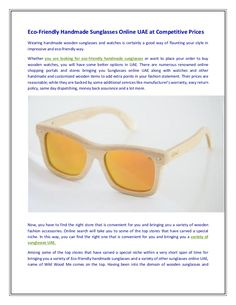 Eco friendly #handmade #sunglasses online uae at competitive prices