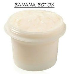 """""""Banana Honey Natural Botox Recipe"""" if bananas could give us the same effect as Botox, there would be banana runs on every Publix in America. They do however make a great post workout snack."""