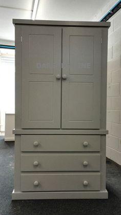 hand made darsons 3 drawer gents grey wardrobe