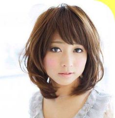 18.Asian Hairstyle for Round Faces