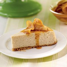 Caramel-Apple Cheesecake   This creamy cheesecake combines the pleasant tartness of fall apples with the buttery sweetness of caramel to really showcase fall flavors.