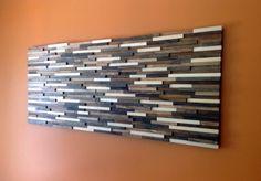 Modern Rustic Wood Art Abstract Art Textured by ModernRusticArt