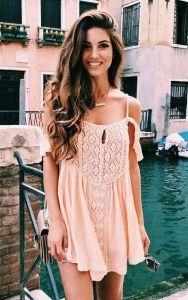 #street #style pink lace dress @wachabuy