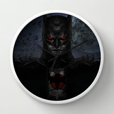 Dark Paradox Wall Clock by UvinArt - $30.00