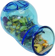 $9.61-$5.99 The new Critter Trail space-saving food dispenser designed to provide your pet hamster, gerbil or mouse with a continuous supply of fresh food. The dispenser mounts to the outside of your pet's cage to save living space for your pet.  Works with both seed and block diets.  Comes is assorted colors.  Actual size 3-3/4-inch long, 2-3/4-inch wide and 4-inch high