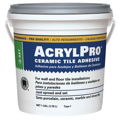 Custom Building Products AcrylPro 1-gal. Ceramic Tile Adhesive-ARL40001 - The Home Depot