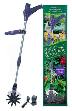 The Royal Weeder Lightweight Electric Tiller and Cultivator with Rechargeable Battery and Charger plus Extra Battery Power Tiller, Electric Tiller, Garden Cultivator, Best Garden Tools, Home Vegetable Garden, Gardening For Beginners, Gardening Tools, Planting Seeds