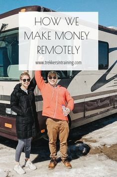 How we make money remotely. Learn how we successfully created remote income in 9 months to hit the road & travel full time. Earn Money From Home, Make Money Blogging, Way To Make Money, Make Money Online, How To Make, Income Streams, Be Your Own Boss, Rv Life, Digital Nomad