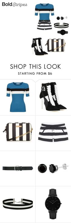 """""""Untitled #1723"""" by nadia-n-pow on Polyvore featuring Sandro, Puma, Juvia, M&Co, Miss Selfridge, CLUSE and BoldStripes"""