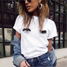 WINK Eye Lashes Ladies T-Shirt
