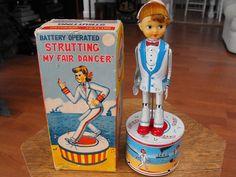 Haji Strutting My Fair Dancer. Battery Op toy 50s/ebay