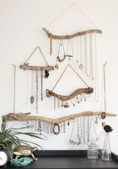 Bohemian bedroom inspiration - Driftwood Jewelry Organizer Made to Order Jewelry Hangers Pick the Driftwood Boho Decor Storage Jewelry Holder Hanging Jewelry Display – Bohemian bedroom inspiration Jewellery Storage, Jewelry Organization, Jewellery Display, Hanging Jewelry Organizer, Jewellery Holder, Diy Jewellery, Wood Jewelry Display, Bracelet Organizer, Jewelry Holder Wall