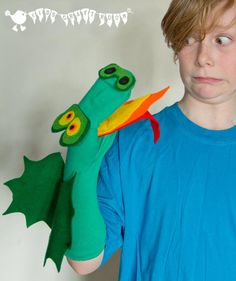 Make a super no sew Dragon Sock Puppet (free printable pattern). Great fun and a fantastic way to promote language, communication and story telling. Roar!