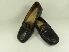 Womens shoes SOFTSPOTS soft spots Manhattan genuine leather flats loafers sz 7 M