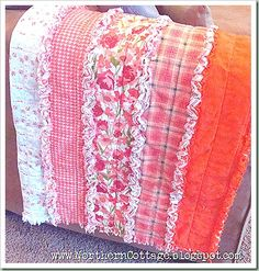 Tutorial for DIY Ruffled Rag Quilt from soft flannel - this is sooooo pretty!  Thinking baby blanket??? Colors to suit....