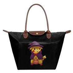 Halloween Pikachu Pokemon Women Stylish Waterproof Hobo Bag Large Tote Shoulder Handbag – Pokemon Coin Purse & Pokemon Bag