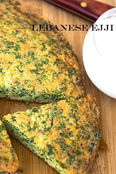 Today, I was just in the mood for a quick ejje in a tray! For those of you who don't know what an oven baked ejji is, it is an old fashioned rustic Lebanese recipe – a cross between an omelette and a savory cake. I have been eating this since I was a little girl. With a few, simple and inexpensive ingredients you will end up with a tasty light lunch or dinner. All you need is a simple, crisp green salad or fattoush on the side All You Need Is, Lebanese Recipes, Savoury Cake, Omelette, Oven Baked, Crisp, Tray, Vegetarian, Lunch