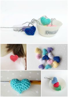 Make your own crochet heart amigurumi! Step-by-step photo tutorial perfect for beginner's! http://amiamore.blogspot.com/2013/07/amigurumi-heart-tutorial.html
