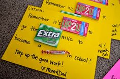 cute candy notes for school blues