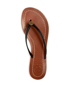 Tory Burch, Terra leather sandal. I love this thong, have multiple colors of them and they look so delicate on feet.