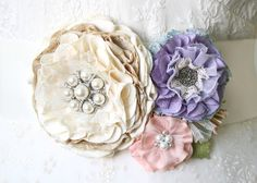Spring wedding colorful sash with vintage buttons, lace and pastel textiles
