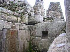 Fine Inca masonry work, at Machu Picchu