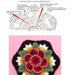Crochet Frida's Flowers Blanket, free pattern