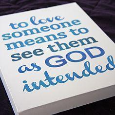 Stenciled Love Quote