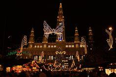 Top 10 Christmas Lights Displays: Christkindlmarkt in Wiener Rathaus, Vienna, Austria. Photo by Honza Soukup